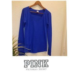 🍁 Pink Vs Blue Long Sleeve waffle Tee